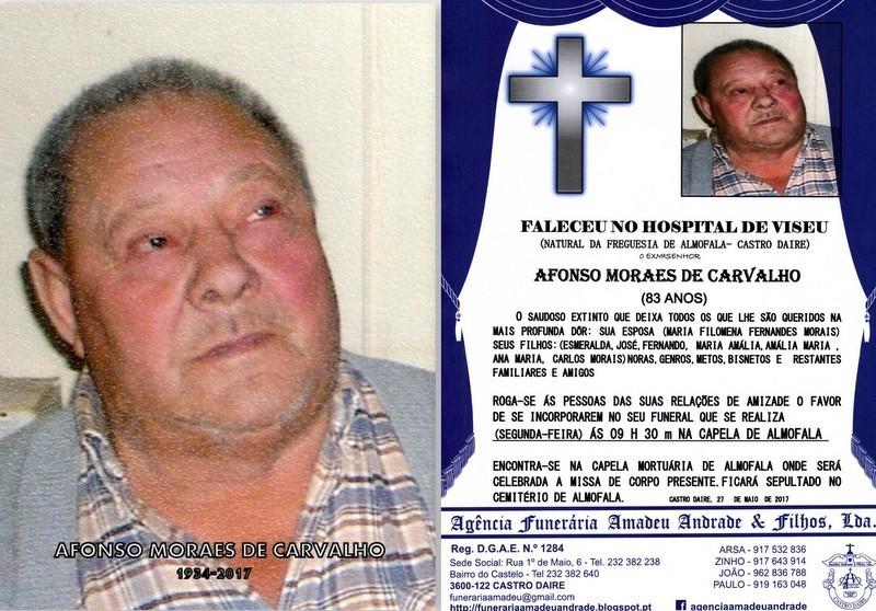 FOTO RIP-DE AFONSO MORAES DE CARVALHO-83 ANOS (ALM
