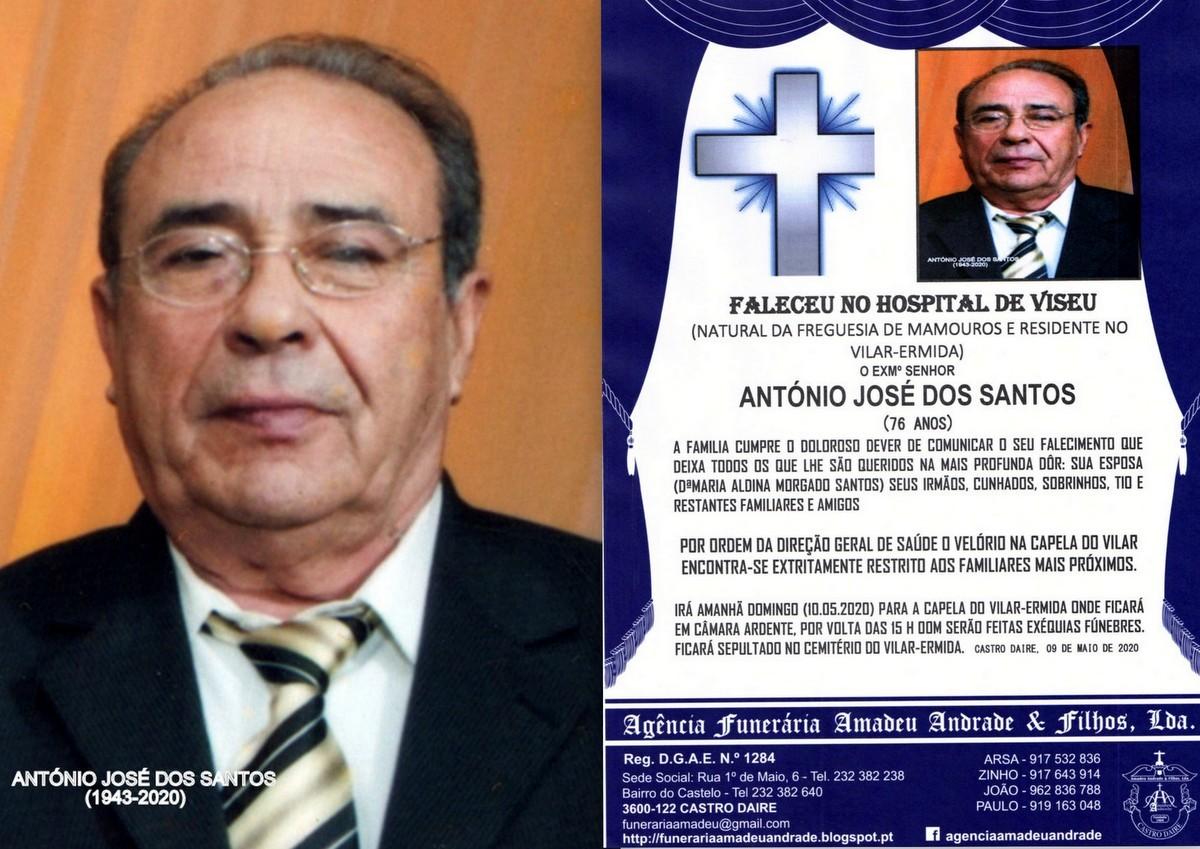 FOTO RIP  DE ANTÓNIO JOSÉ DOS SANTOS-76 ANOS (VI