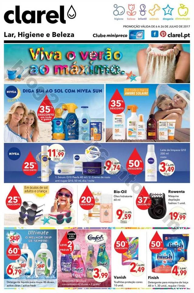 Antevisão Folheto CLAREL Promoções de 6 a 26 ju