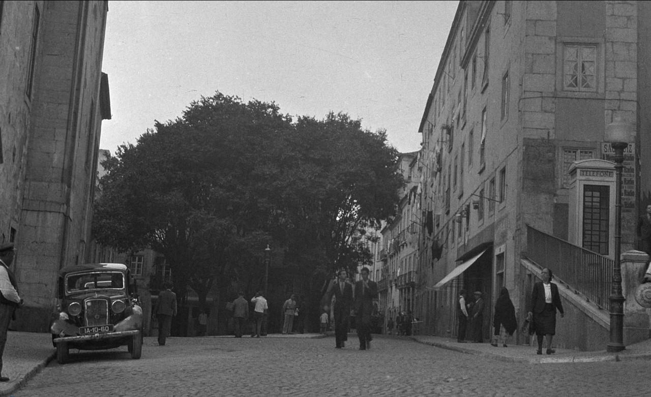 Scena de rua, Largo do Soccorro (M. Novaes, ante 1949)