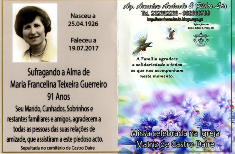 CARTÃO3  DE AGRADECIMENTO3- MARIA FRANCELINA TEIX