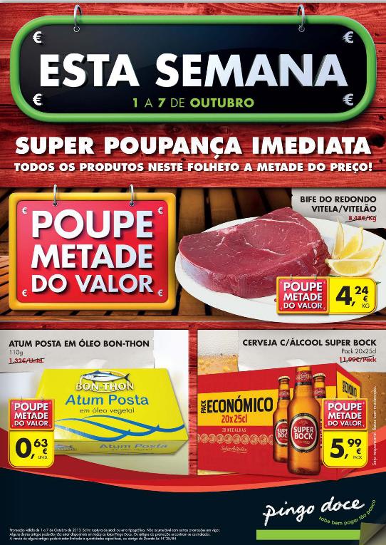 Novo folheto pingo doce de 1 a 7 Outubro - Online
