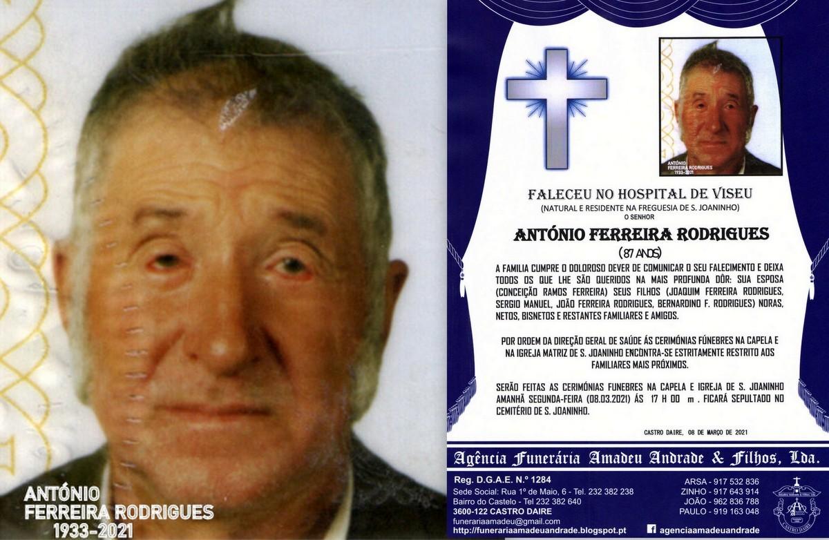 FOTO RIP HORA DE ANTÓNIO FERREIRA RODRIGUES-87 AN