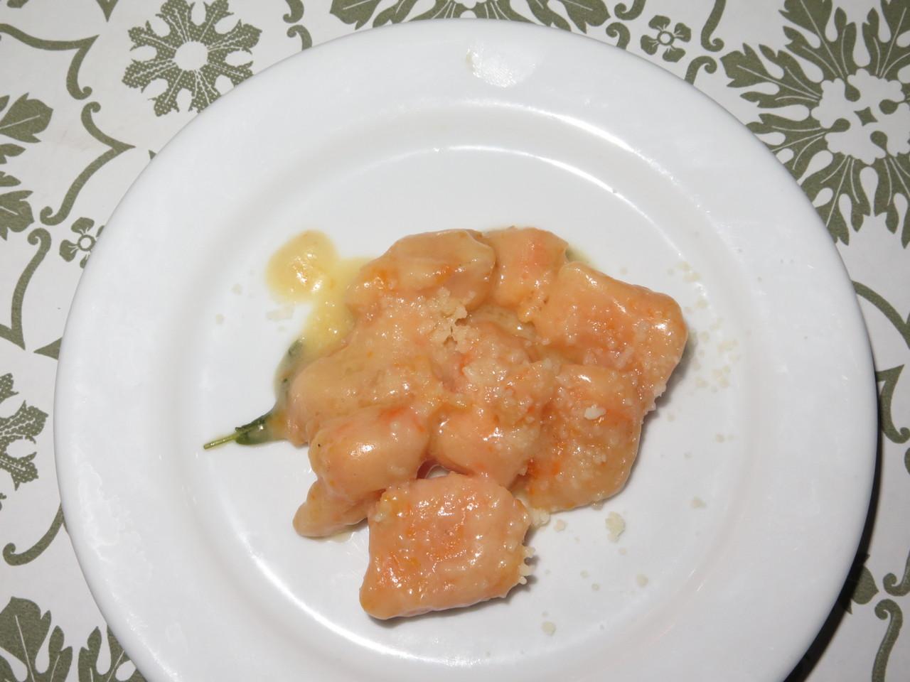 Gnocchi di zucca con burro e salvia