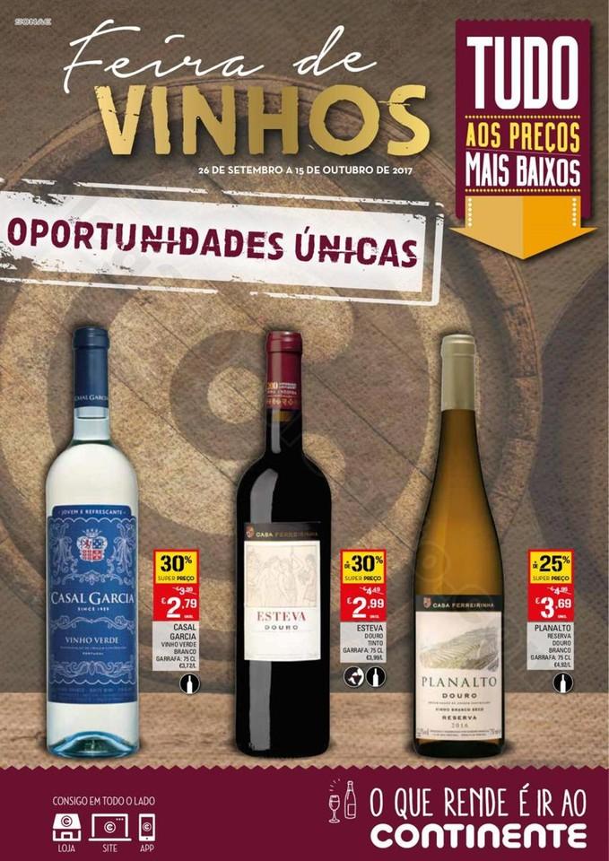 Antevisão Folheto CONTINENTE Extra Vinhos de 26 s