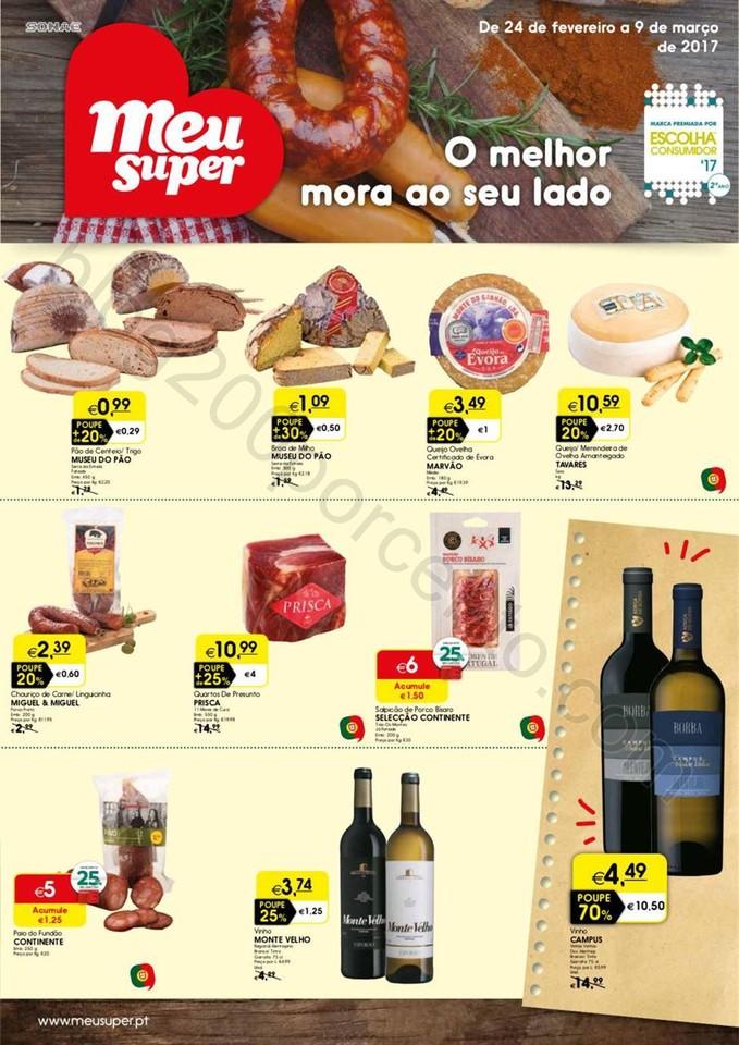Antevisão Folheto MEU SUPER Promoções de 24 fev