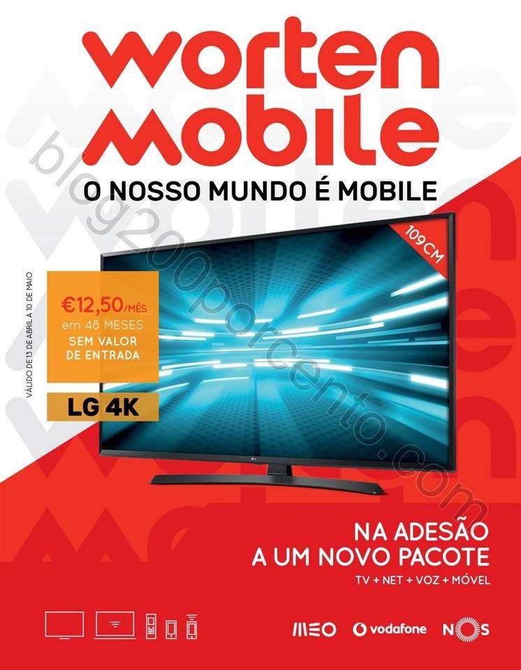 Novo Folheto WORTEN Mobile promoções até 10 mai
