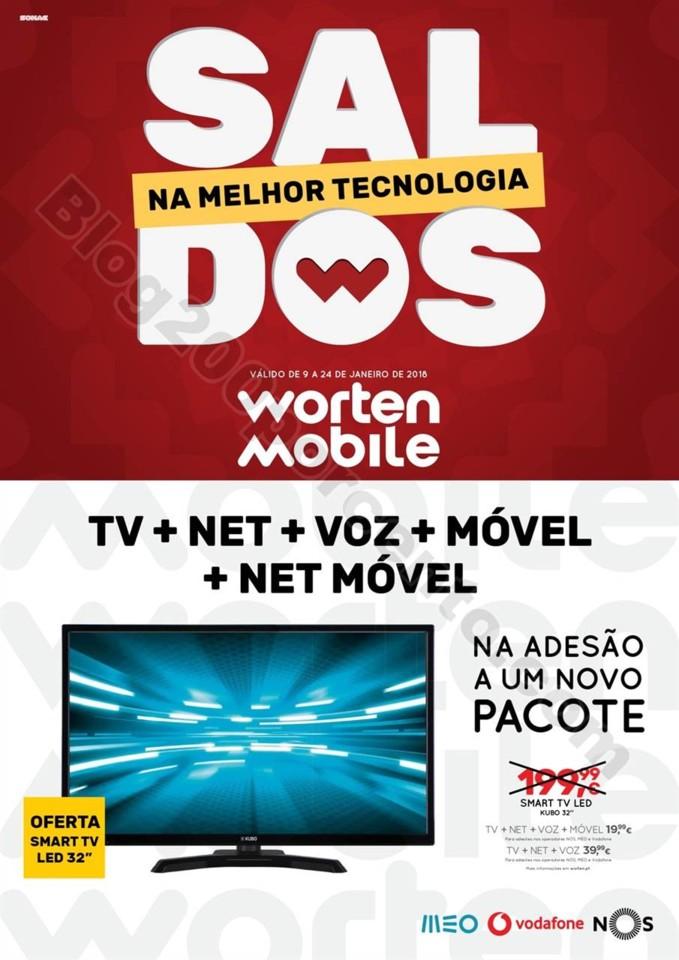 Antevisão Folheto WORTEN Mobile Saldos Promoçõe