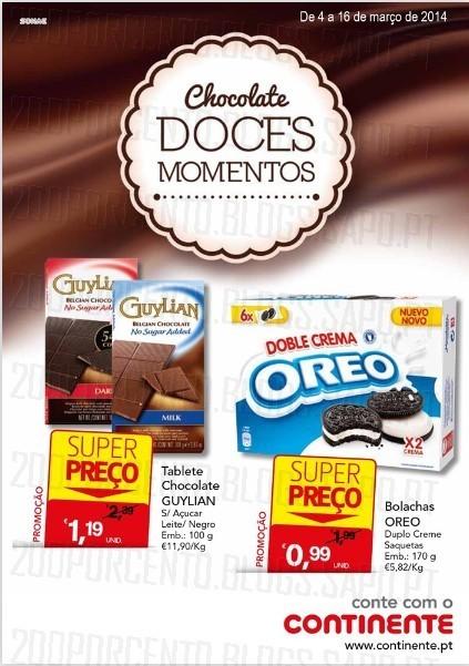 Novo folheto   CONTINENTE   Chocolates de 4 a 16 março