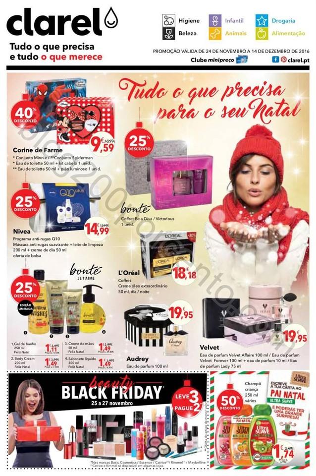 Antevisão Folheto CLAREL Natal promoções de 24