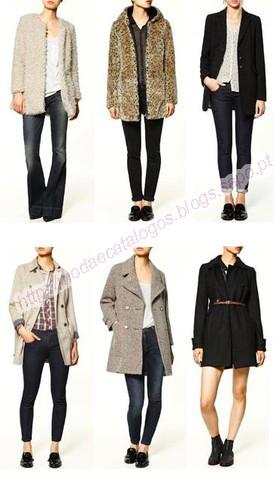 Casacos Zara TRF Nova Colecção. Em cima da esquerda ... 84e25066680