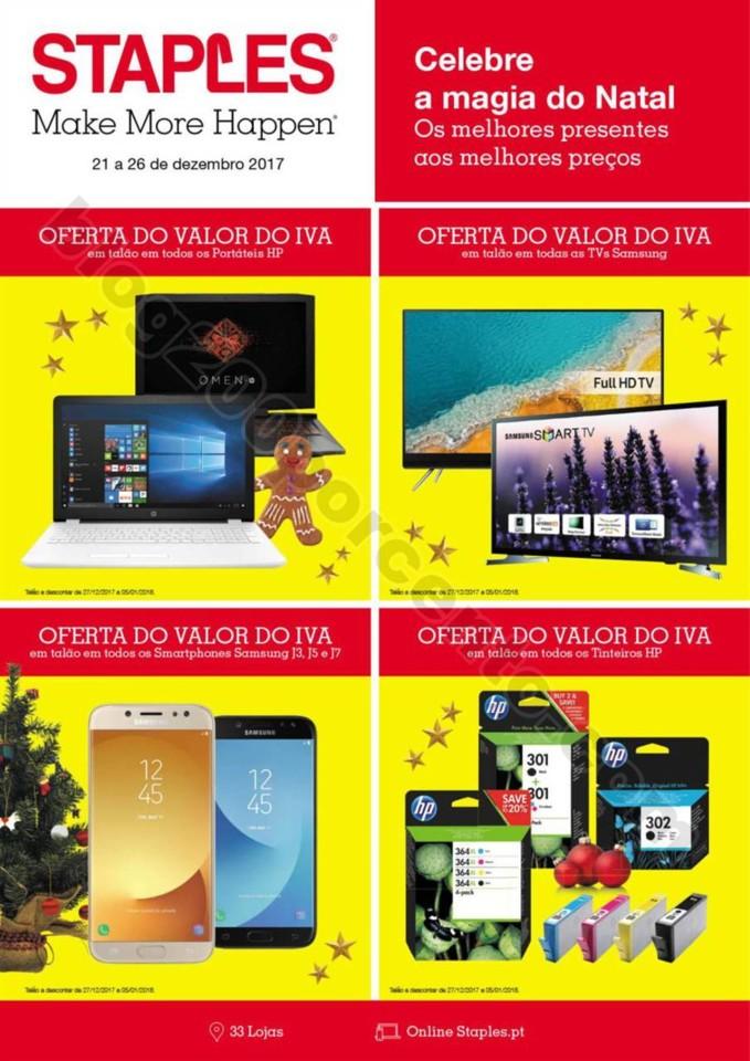 Antevisão Folheto STAPLES promoções de 21 a 26