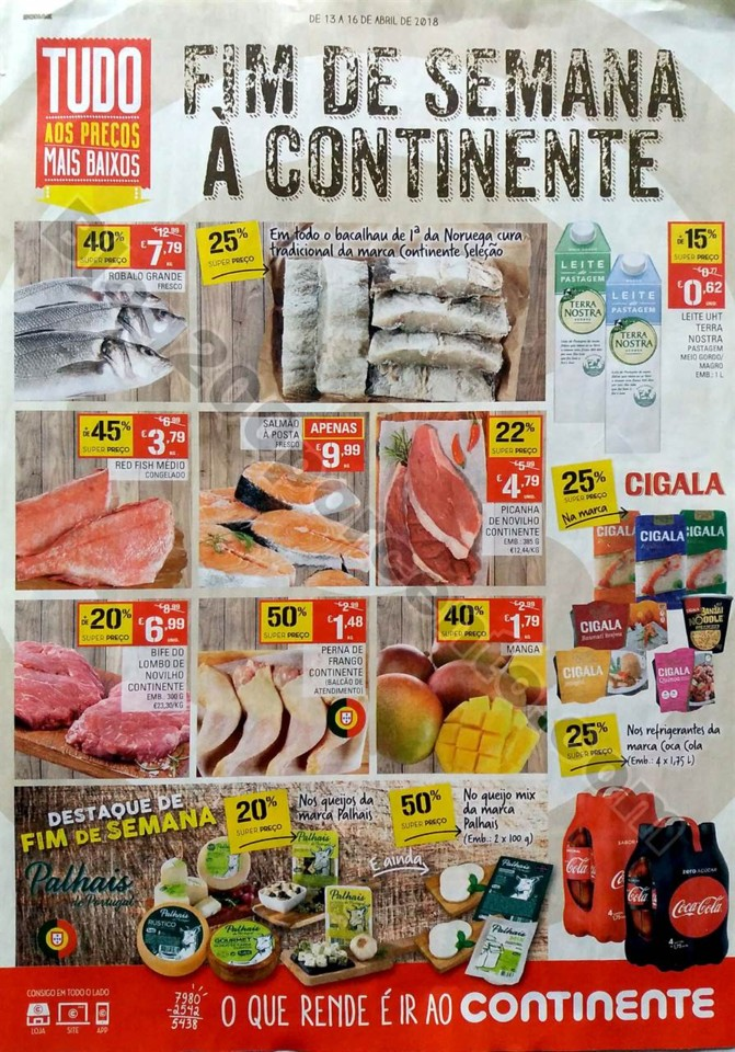 antevisão folheto Continente Fim Semana 13a16abr