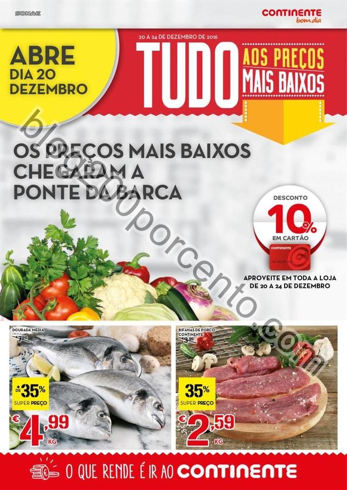 Novo Folheto CONTINENTE Aberturas Ponte da Barca d
