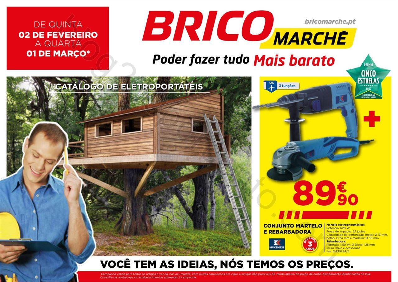 Antevisão Folheto BRICOMARCHÉ Promoções de 2 f