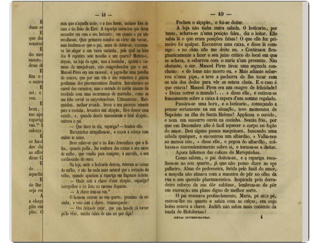 Camillo castello Branco, «Scenas Contemporaneas», 2.ª ed., Cruz Coutinho, Porto, 1862, pp. 47-48.
