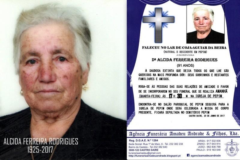 FOTO E RIP- DE ALCIDA FERREIRA RODRIGUES-91 ANOS.j