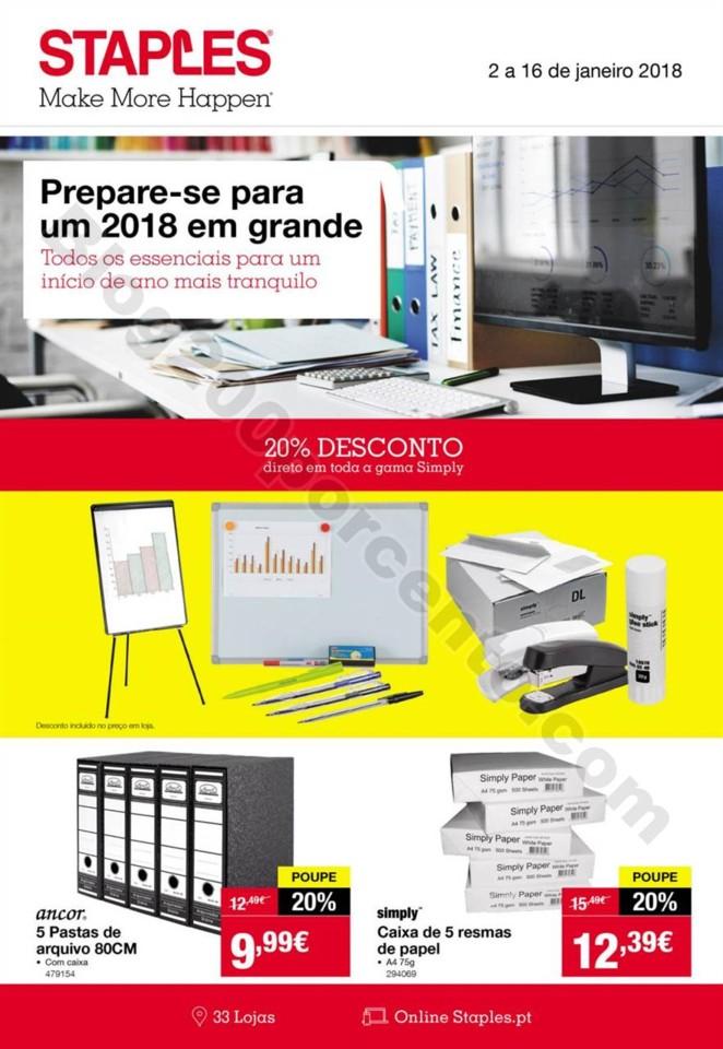 Antevisão Folheto STAPLES Promoções de 2 a 16 j