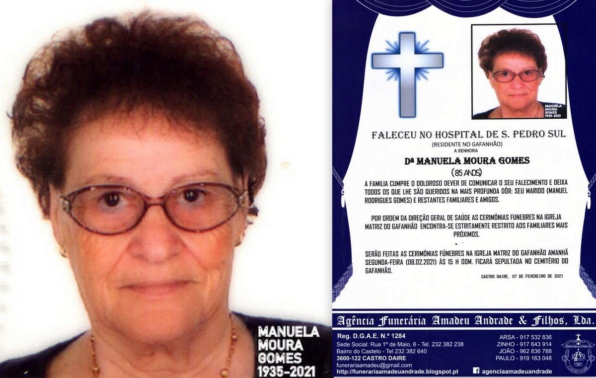 FOTO RIP DE MANUELA MOURA GOMES-85 ANOS (GAFANHÃO