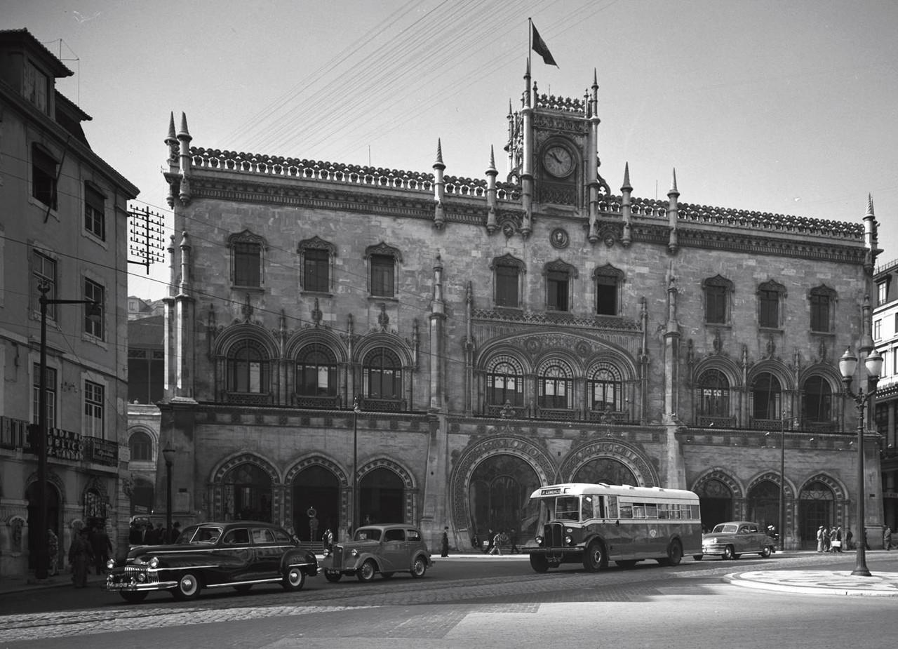 Estação do Rossio, Lisboa (M. Novais, 1949)