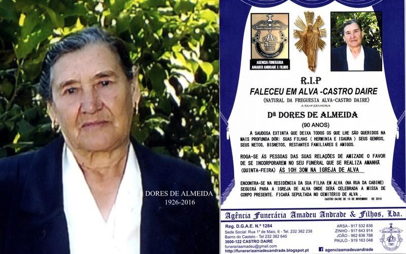 RIP DUPLO -DE DORES DE ALMEIDA -90 ANOS (ALVA) (2)