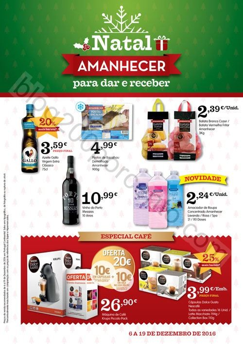 Novo Folheto AMANHECER Promoções de 6 a 19 dezem