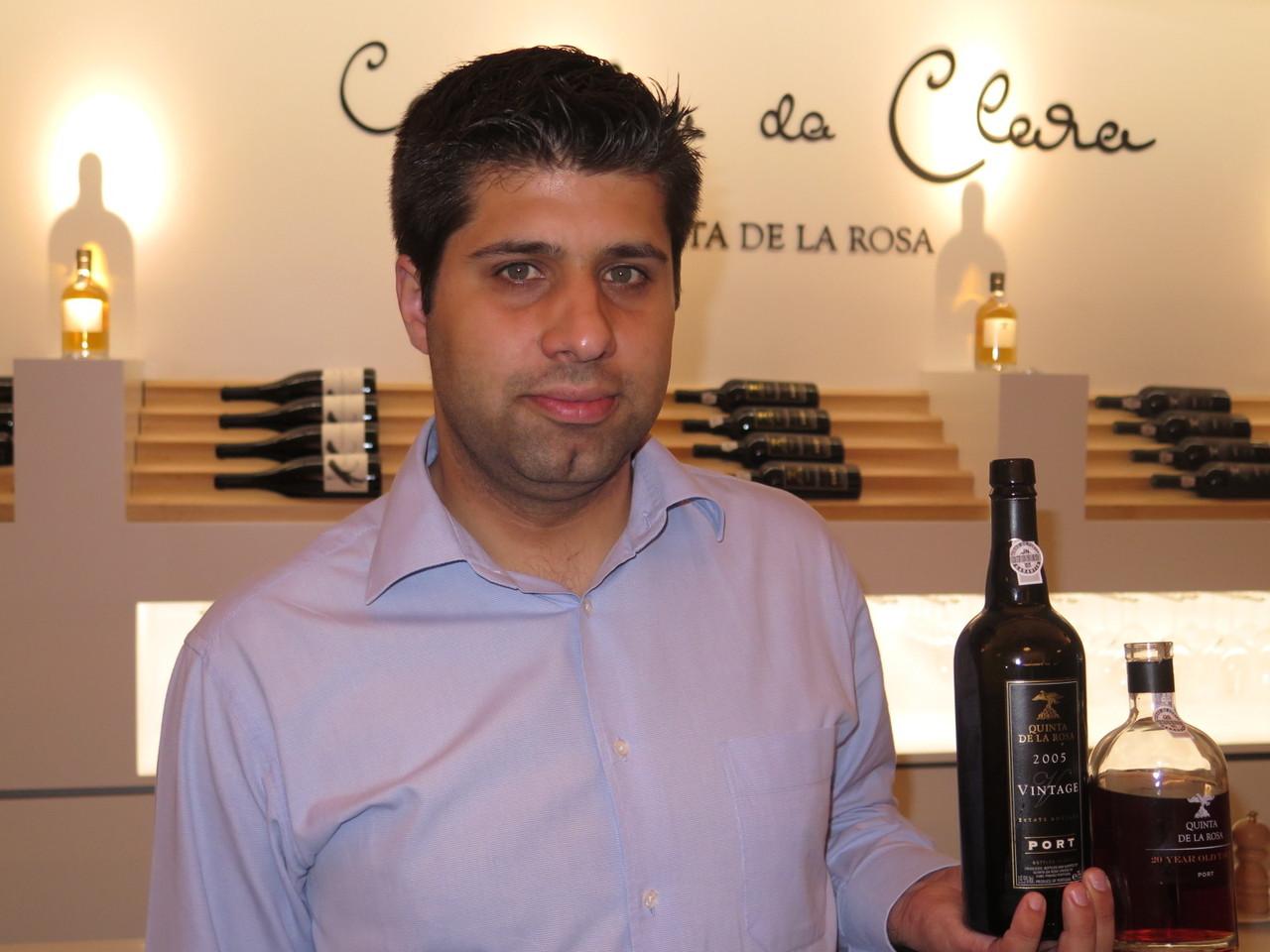 Pedro Esteves e dois clássicos Vinhos do Porto da Quinta de la Rosa