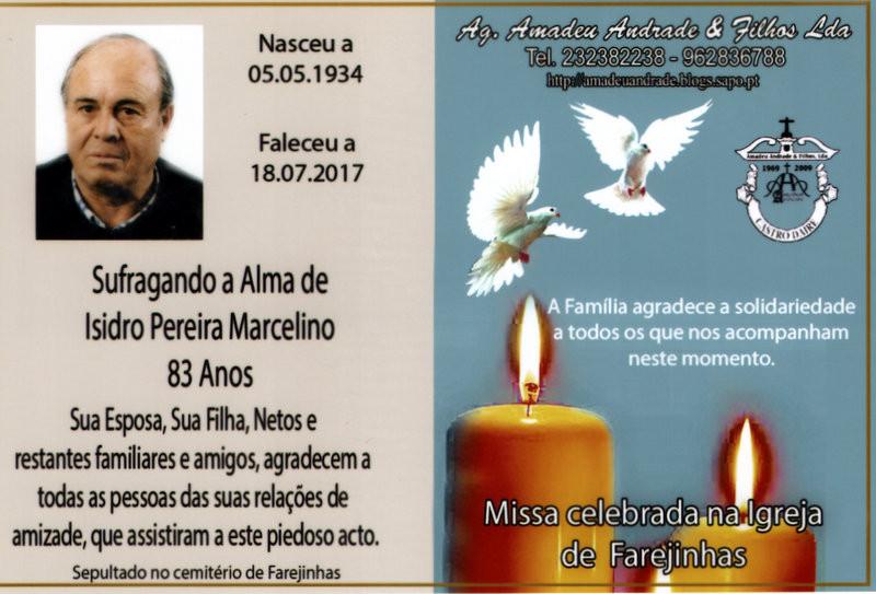 CARTÃO DE AGRADECIMENTO-ISIDRO PEREIRA MARCELINO