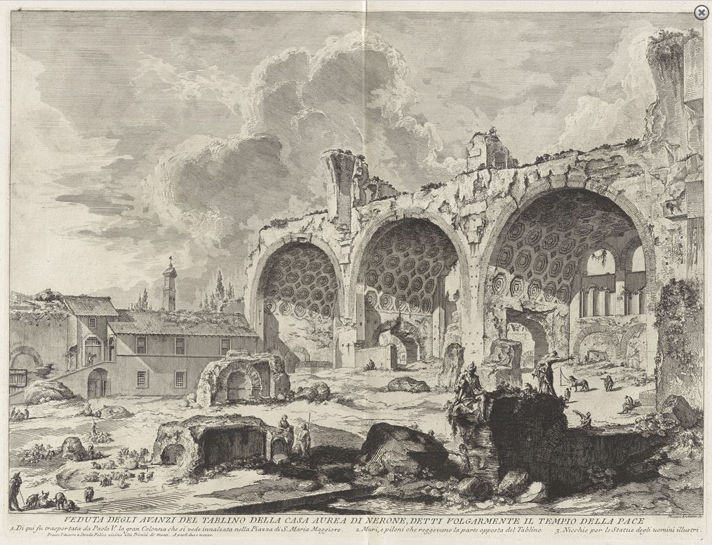 Basílica de Maxêncio e de Constantino, Roma (G.-B. Piranesi, 1767)