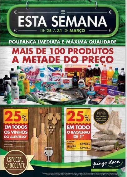 Novo folheto | PINGO DOCE | de 25 a 31 março - Online