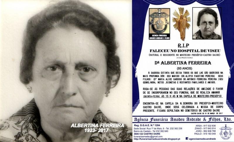 RIP-FOTO - DE ALBERTINA FERREIRA -93 ANOS (MOSTEIR