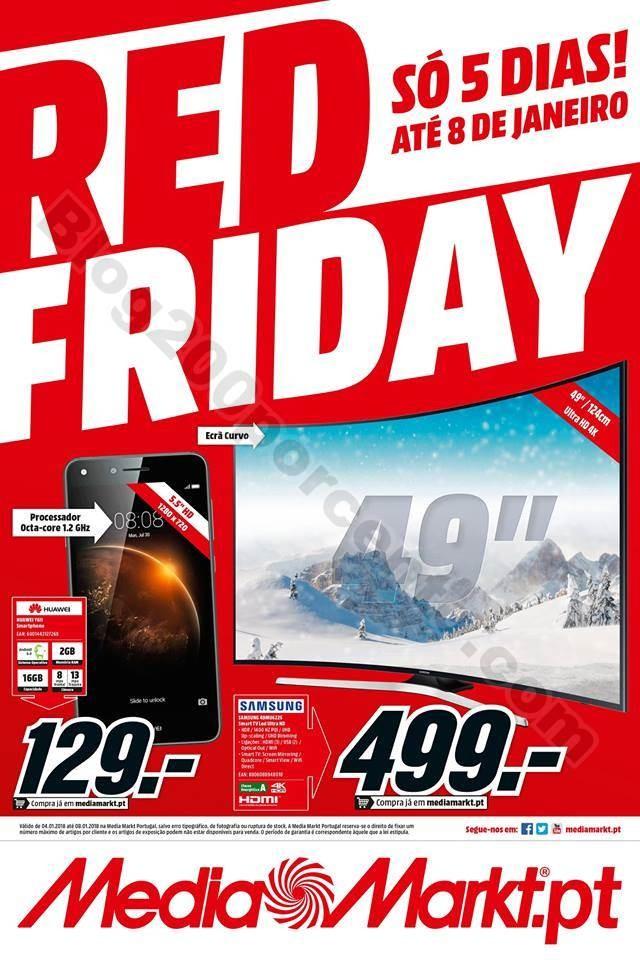 Antevisão Folheto MEDIA MARKT Red Friday promoç