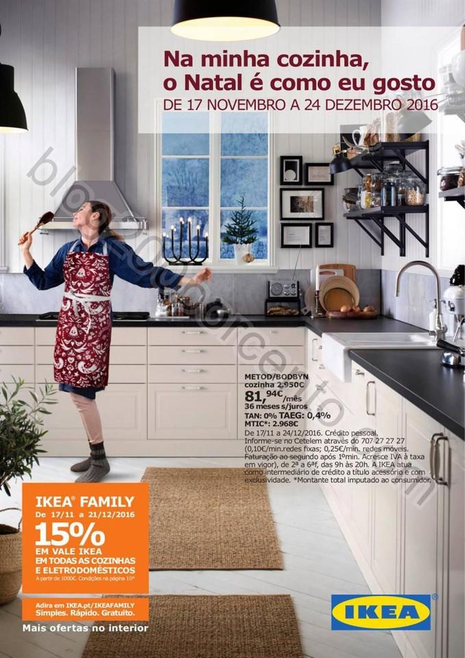 Antevisão Folheto IKEA Cozinhas Natal promoções