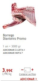 Promoção | JUMBO | Borrego a 3,99€, dias 18 e 19 dezembro