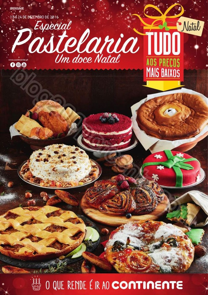Antevisão Folheto CONTINENTE Pastelaria de Natal