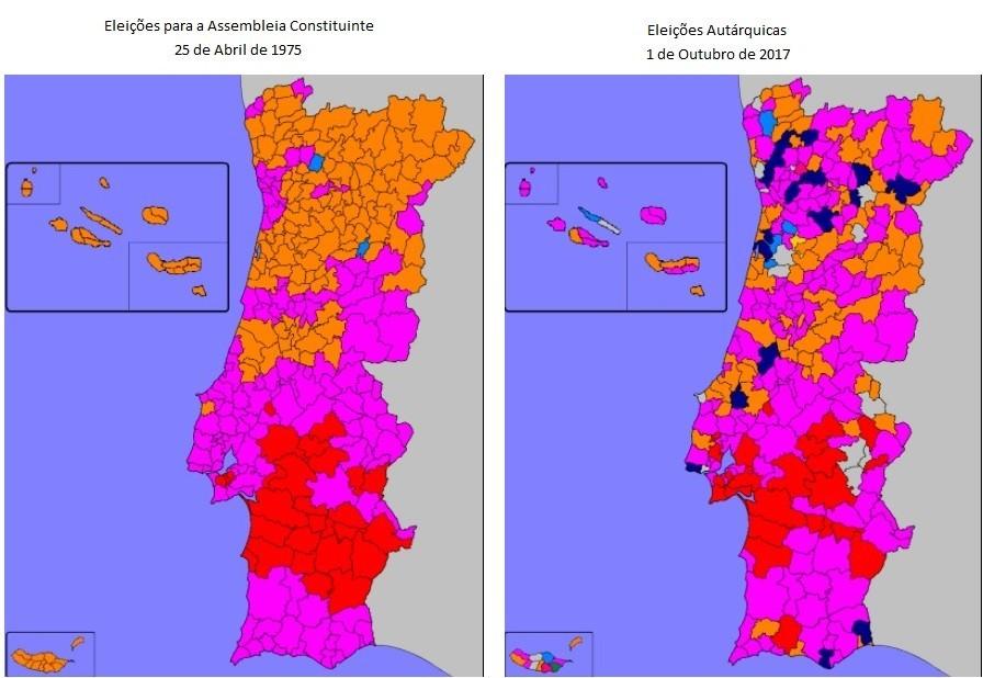 2018-02-11 Eleições 1975 e 2017 mapa de resultad