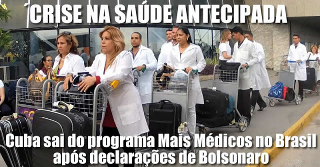 Cuba anuncia fim do Mais Médicos no Brasil, após