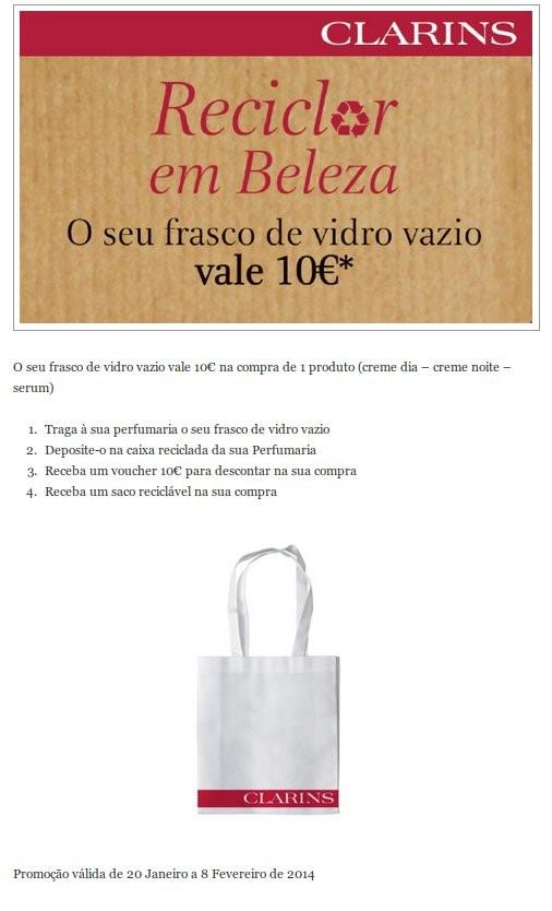 O seu Frasco vazio vale 10€ | EL CORTE INGLÉS | Clarins