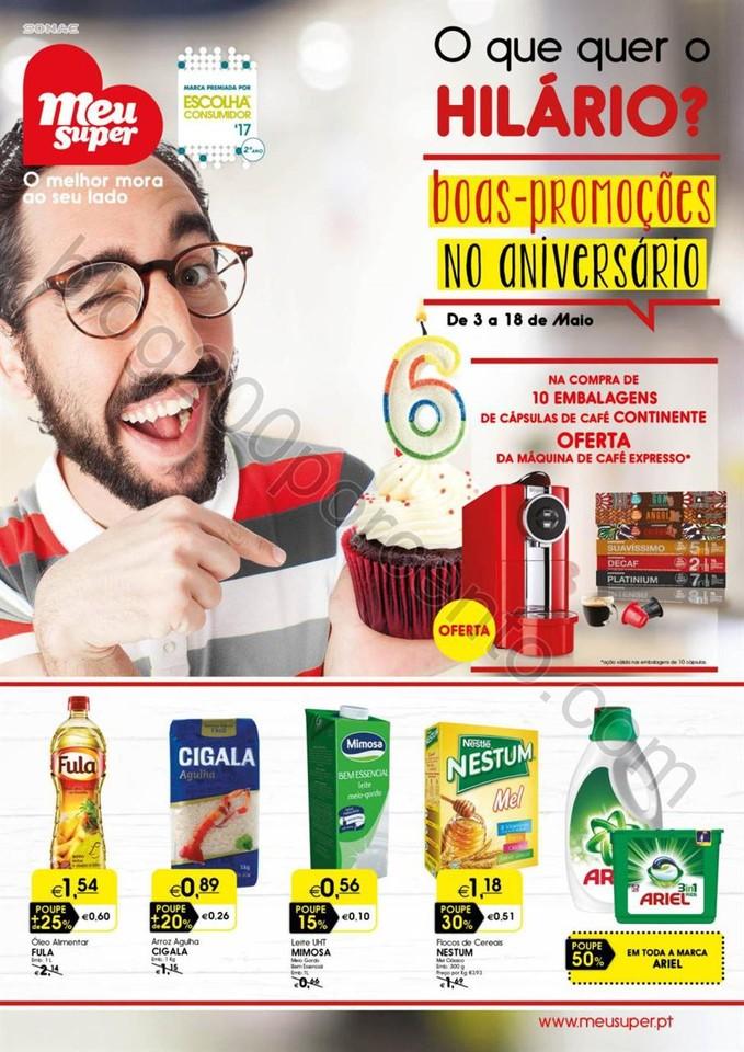 Antevisão Folheto MEU SUPER Promoções de 3 a 18