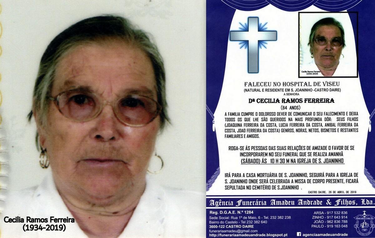 FOTO RIP NOVA DE DªCECILIA  RAMOS FERREIRA -84 AN
