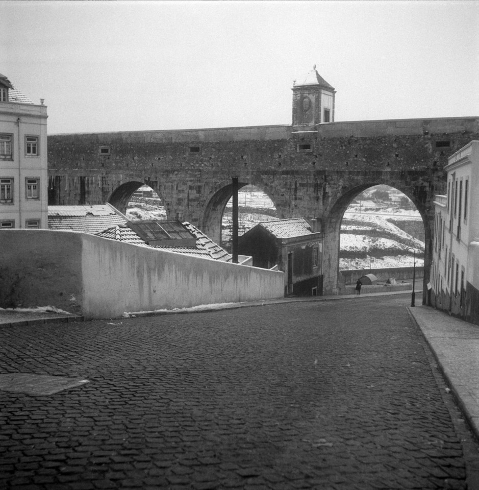 Arco do Carvalhão, 1945, foto de Estúdios Horác