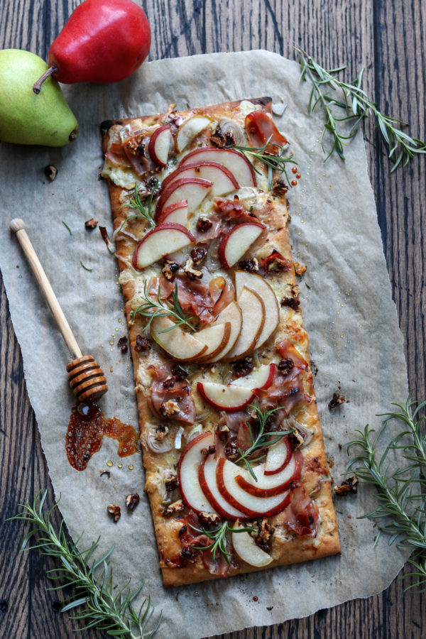 Honey-Roasted-Pear-and-Brie-Flatbread-Vertical-Fea