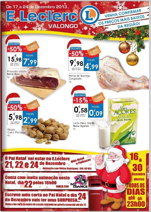 Antevisão folheto   E-LECLERC   Valongo de 17 a 24 dezembro