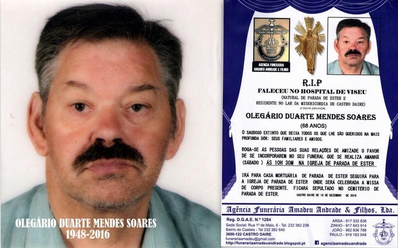 FOTO RIP- DE OLEGÁRIO DUARTE MENDES SOARES-68 ANO