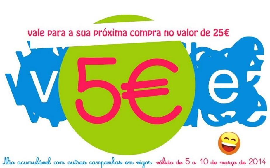 Vale de 5€ | BLUE KIDS | de 5 a 10 de março