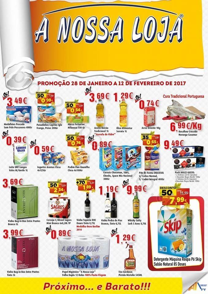 Antevisão Folheto A NOSSA LOJA Promoções de 28