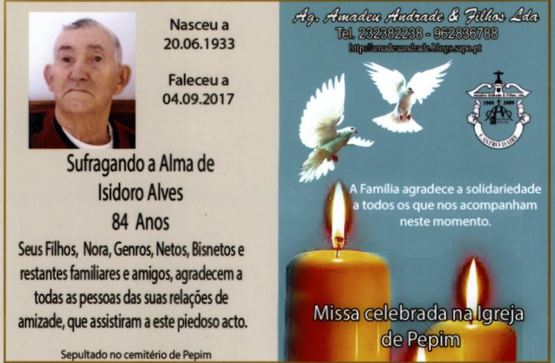 CARTÃO2  DE AGRADECIMENTO-ISIDORO ALVES  -84 ANOS