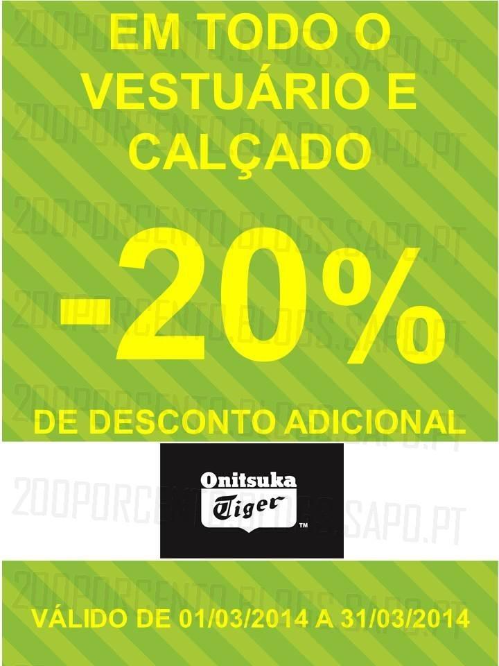 20% de desconto extra | FREEPORT | Onitsuka Tiger até 31 março