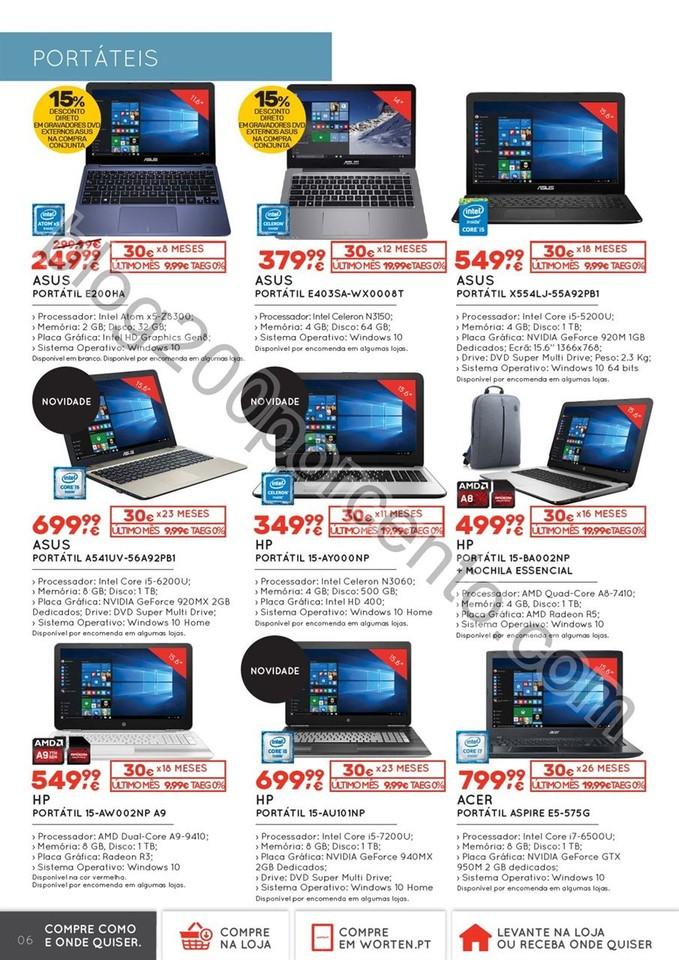 Novo Folheto WORTEN Tecnologia promoções de 6 a
