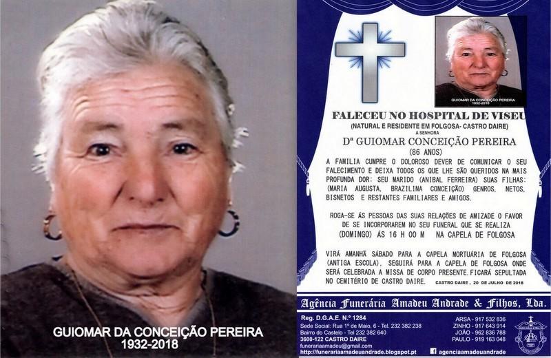 FOTO RIP  DE GUIOMAR CONCEIÇÃO PEREIRA-86 ANOS (